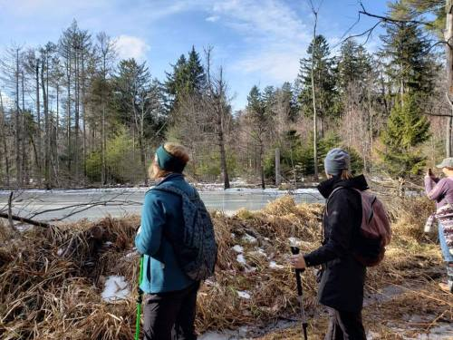 Photos from #flashhike at Cobble Mountain Reservoir in Granville 01-11-20
